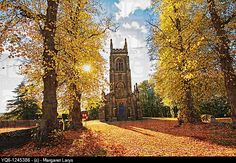 Old, gothic church in Autumn, Stirlinghsire, Scotland, UK