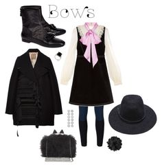 """""""Put a bow on it"""" by perpetto ❤ liked on Polyvore featuring N°21, No Ka'Oi, Gucci and BCBGMAXAZRIA"""