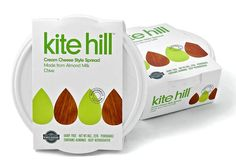 One of our most favorite dairy-free options! Kite Hill Cream Cheese is incredible and spreads just like a real cheese!