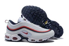36 46Nike Air Max 97 Blue And White Red Sreet Retro Running Shoes New Release