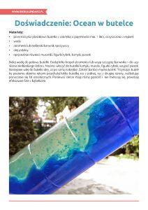 Światowy Dzień Oceanów – pakiet edukacyjny: Ocean w butelce Ocean, Water Art, The Ocean, Sea