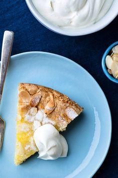 Lemon-Almond Butter Cake - Buttery almond cake w/lemon curd baked inside is the ultimate citrus tart! Cupcakes, Cupcake Cakes, Cake Recipes, Dessert Recipes, Lemon Desserts, Apple Desserts, Diet Recipes, Breakfast Recipes, Recipies