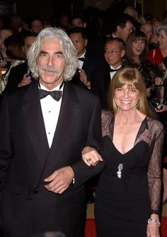 Sam Elliott and Katharine Ross I so enjoyed Mr. Elliott in the movies. Looks good with aging and his gray hair in full. Hollywood Couples, Hollywood Celebrities, Celebrity Couples, Hollywood Stars, Classic Hollywood, Celebrity Photos, Sam Elliott, Katherine Ross, Sundance Kid