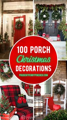 Christmas Garden Decorations, Farmhouse Christmas Decor, Christmas Diy, Christmas Signs, Christmas Wreaths, Decorating Porch For Christmas, Front Porch Ideas For Christmas, How To Decorate For Christmas, 50 Diy Christmas Decorations