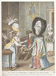 In the 1770's, (when huge wigs and hairstyles were fashionable) the 'calash' bonnet was worn to protect the high hairstyles from the weather. These collapsible bonnets were made of strips of wood or whalebone sewn into channels of a silk hood. A long ribbon attached to the top front of the hood, held firmly in the hand, allowed the wearer to hold the calash securely, while walking in the wind.