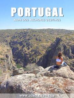 Mapa de Portugal com os melhores destinos para visitar em Portugal. Mapa de Portugal para escolher os melhores lugares para passar férias.