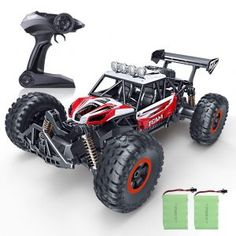 Buy RC Car, Newest Ghz High Speed Remote Control Car Scale Off Road RC Trucks with Rechargeable Batteries, Racing Toy Car for All Adults & Kids at Wish - Shopping Made Fun Remote Control Boat, Radio Control, Off Road Rc Cars, Best Rc Cars, Rc Autos, Thing 1, Rc Trucks, Fun Hobbies, Car Ins