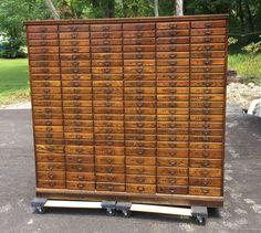 antique 1920s cincinnati oh history oak filing cabinet apothecary general store antique furniture apothecary general store