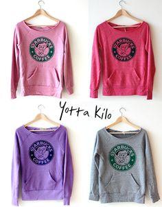 Women Crop Sweatshirt -Disney The Little Mermaid Starbucks Sweatshirt