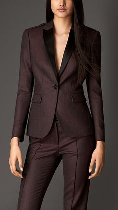 Virgin Wool Tailored Jacket | Burberry