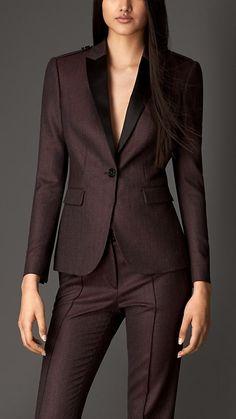 Jaqueta de alfaiataria em lã virgem | Burberry