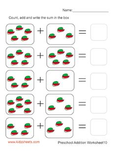 Preschool Addition (Sheet10)