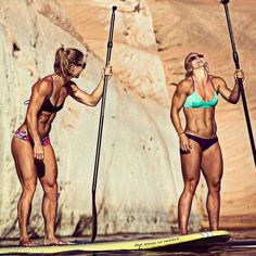 Jenny Labaw & Brooke Ence my goals to have a body like theirs not just skinny but ripped