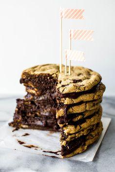 Salted Chocolate Chunk Cookie Layer Cake