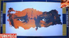 32 bin karton bardakla Türkiye ve Atatürk portresi Yapıldı Diagram, Map, Paper Board, Location Map, Maps
