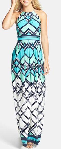 Graphic print jersey maxi dress http://rstyle.me/n/jwmnznyg6