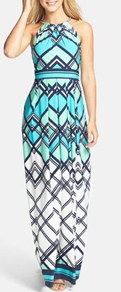 Graphic print jersey maxi dress http://rstyle.me/n/jwmnznyg6