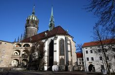 Wittenburg's Castle church where Martin Luther pinned his 95 theses.