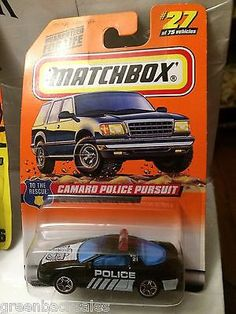 Matchbox Toy Car - Camaro Police Pursuit This item is NOT in Mint Condition and is in no way being described as Mint or even Near Mint. Our toys have not always lead the perfect life, nor have they be