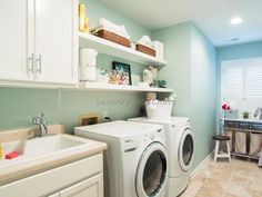 Laundry room set up