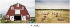 We love the circular seating in the field adjacent to this classic red barn. Beautiful rural Maine! Photo by @Patricia Smith Takacs at Kivalo Photography www.realmaineweddings.com