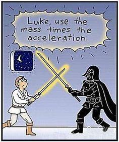 LUKE USE THE MASS X ACCELERATION
