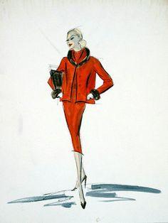 Edith Head sketch for Carolyn Jones in A Hole In The Head (1959)