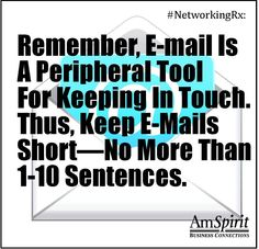 #NetworkingRx: Are your e-mails closer to one or ten sentences?