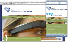 An educational website for a new department at the University of Arkansas
