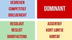De D-stijl van DISC staat voor dominant en vurig rood. Een typische D is doortastend, doelgericht, gedreven, assertief, resoluut, competitief, beslist en kortaf.