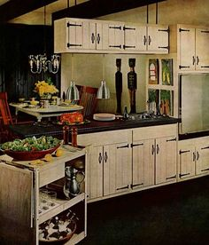 """Kitchen cabinet doors for knotty pine or painted """"coolonial"""" kitchens - Retro Renovation"""