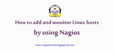 How to add and monitor Linux hosts by using Nagios