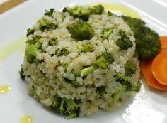 Receita de Arroz com brócolis
