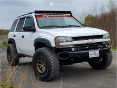 2003 Chevrolet Trailblazer Fitment Gallery Browse the largest online truck fitment gallery, curated by enthusiasts, for enthusiasts. Chevy Trailblazer Ss, Gmc Envoy, Tyre Brands, Jeep Mods, Chevy Girl, Utility Trailer, Ford Explorer, Custom Trucks, Jeeps