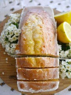 Lemon Drizzle Cake - a lemon glaze soaked into a sponge cake, similar to Starbuck's - quick and easy recipe - via The Londoner