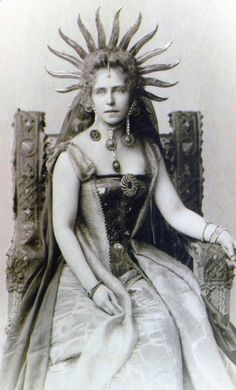 Queen Marie of Romania in fancy dress costume