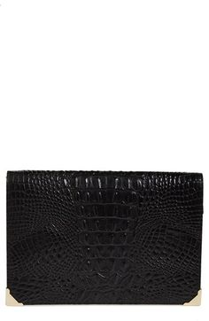 Alexander Wang 'Prisma' Croc Embossed Leather Pouch available at #Nordstrom