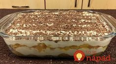 Tiramisu dezert s vážně famózní chutí, který je připravený už za 10 minut! Cinnamon Sugar Apples, Delicious Desserts, Dessert Recipes, Romanian Food, Cookery Books, Russian Recipes, Chocolate Desserts, Trifle, Sweet Tooth