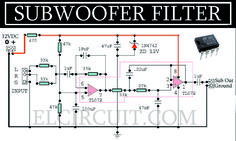 Complete Subwoofer Filter Circuit TL072