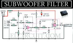 Complete Subwoofer Filter Circuit TL072