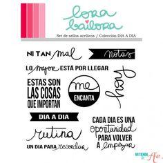 Set de sellos acrílicos Día a día Lora Bailora
