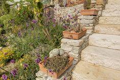 Sandstein-Blockstufen und Greis Mauersteine Stepping Stones, Outdoor Decor, Home Decor, Garten, Stair Risers, Decoration Home, Room Decor, Interior Decorating