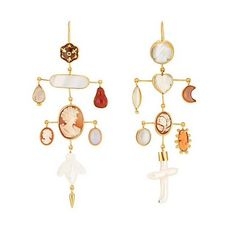 Limited edition Grainne Morton Victorian Wire Drop Earrings exclusive to @Barneys. Creams and Corals with the sweetest Mother of Pearl Bee. Available now in store Barneys, Madison Avenue and online Barneys.com. Pack Up, Cross Earrings, Save The Bees, Victorian, Madison Avenue, Jewels, Corals, Cream, Antiques