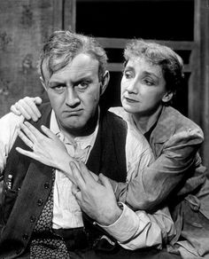 "Lee J. Cobb and Mildred Dunnock, Alpha Phi (Goucher College) in ""Death of a Salesman"" on Broadway, 1949."