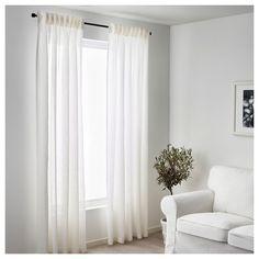 LEJONGAP Curtains, 1 pair White 145x250 cm - IKEA
