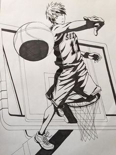 Kuroko Tetsuya (bianco e nero) - Kuroko no Basket