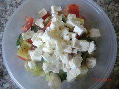 Zeleninový salát s balkánem | NejRecept.cz Feta, Dairy, Cheese, Author