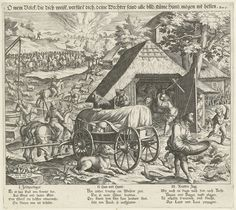 Allegorie op oorlog, Johann Sadeler (I), 1579 - 1595
