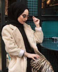 Image may contain: 1 person Muslim Fashion, Hijab Fashion, Women's Fashion, Hijabs, Liberty, Photography, Image, Instagram, Style