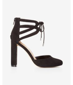 Looped Lace-Up Pump Black Women's 6